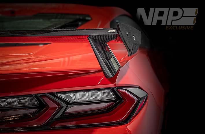 NAP Exclusive Corvette C8 carbon rear wing web