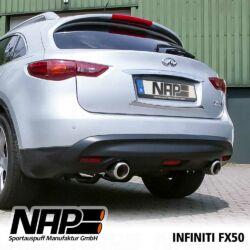 NAP Sportaupuff Infiniti FX50 h1