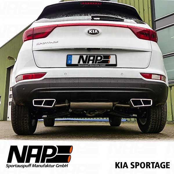 nap sportauspuff kia sportage ql nap sportauspuff. Black Bedroom Furniture Sets. Home Design Ideas