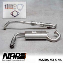 NAP Sportaupuff Mazda MX5 NA ALL
