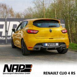 NAP Sportaupuff Renault Clio4 hinten