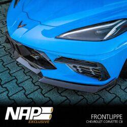 NAP Sportauspuff Chevrolet Corvette C8 Frontlippe black 01