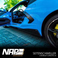 NAP Sportauspuff Chevrolet Corvette C8 Seitenschweller black 02