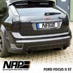 NAP Sportauspuff Ford Focus 2 ST hinten2