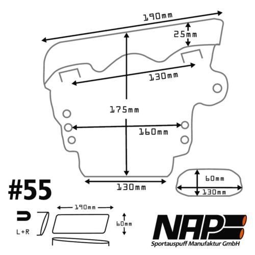 NAP Sportapuspuff Endrohr 55 D
