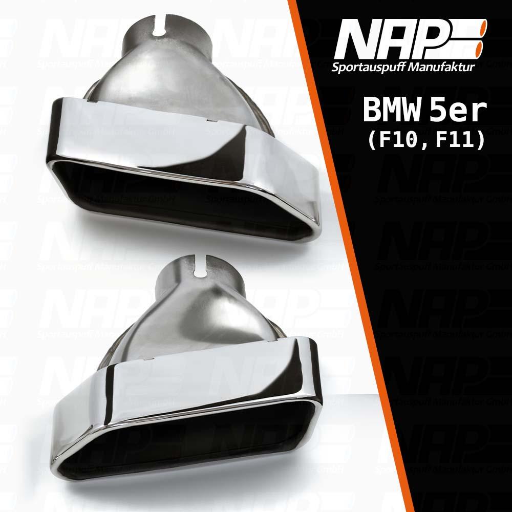 NAP Sportapuspuff Endrohr BMW F10F11 Trapez LR 1