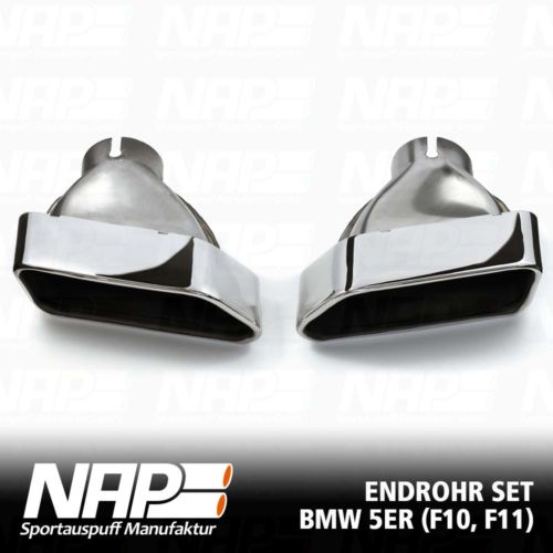 NAP Sportapuspuff Endrohr BMW F10F11 Trapez LR 5
