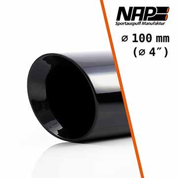 NAP Sportauspuff Endrohr black 100 mm